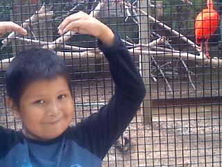 Charles at zoo