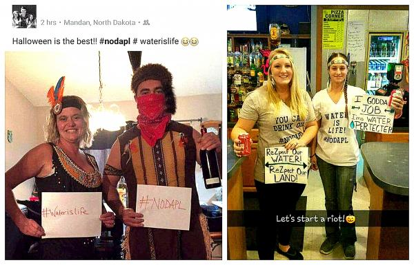 Social Media images from Twitter and Facebook captured by Indian Country Today Journalist Vincent Schilling